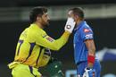 Prithvi Shaw got something in his eye? MS Dhoni to the rescue, Chennai Super Kings v Delhi Capitals , IPL 2020, Dubai, September 25, 2020