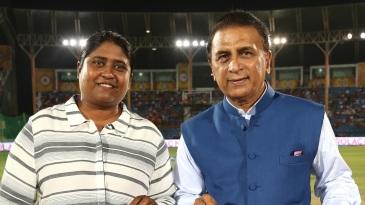 Neetu David, pictured here with Sunil Gavaskar, will lead the new women