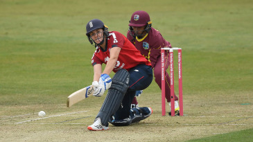 Nat Sciver's half-century held England's innings together