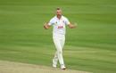 Jamie Porter roars in celebration, Somerset vs Essex, Bob Willis Trophy final, 4th day, Lord's, September 26, 2020