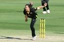 Georgia Wareham bowls, Australia v New Zealand, 2nd women's T20I, Brisbane, September 28, 2020