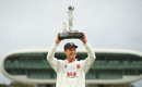 Tom Westley lifts the Bob Willis Trophy, Somerset vs Essex, Bob Willis Trophy final, 5th day, Lord's, September 27, 2020