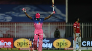 Jofra Archer celebrates after helping Rajasthan Royals pull off a record chase