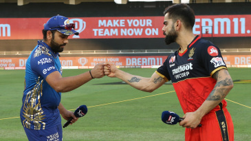 Rohit Sharma and Virat Kohli fist-bump at the toss