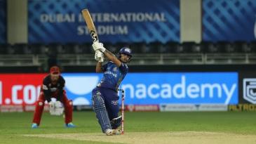Ishan Kishan swings one away for a boundary