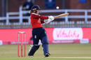 Tammy Beaumont swings the ball away on the pull, England vs West Indies, 4th T20I, Derby, September 28, 2020