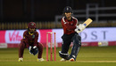 Amy Jones lines up a reverse sweep, England vs West Indies, 4th T20I, Derby, September 28, 2020