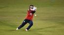 Amy Jones drops an aerial catch during, England Women vs West Indies Women, 2nd T20I, Derby, September 23, 2020