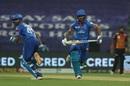 Shikhar Dhawan and Shreyas Iyer run between the wickets, Delhi Capitals v Sunrisers Hyderabad, IPL 2020, Abu Dhabi, September 29, 2020