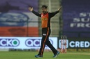 Rashid Khan celebrates a wicket, Delhi Capitals v Sunrisers Hyderabad, IPL 2020, Abu Dhabi, September 29, 2020