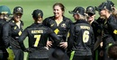 Surrounded by her team-mates, Georgia Wareham sports a grin, Australia v New Zealand, 3rd women's T20I, Allan Border Field, September 30, 2020