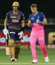 The impressive Tom Curran sent back Pat Cummins, Rajasthan Royals vs Kolkata Knight Riders, IPL 2020, Dubai, September 30, 2020