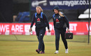 Sophie Ecclestone and Sarah Glenn arrive for the final T20I of the series, England Women vs West Indies Women, Derby, September 30, 2020