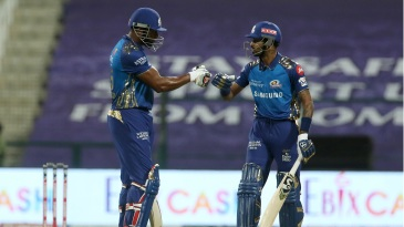 Kieron Pollard and Hardik Pandya strung together a 67-run partnership