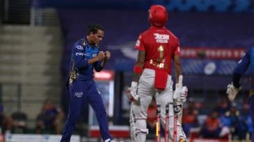 Rahul Chahar had KL Rahul bowled cheaply