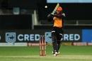 Abhishek Sharma goes on the attack, Chennai Super Kings v Sunrisers Hyderabad, IPL 2020, Dubai, October 2, 2020