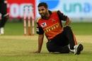 Bhuvneshwar Kumar was taken out of the attack in the penultimate over, Chennai Super Kings v Sunrisers Hyderabad, IPL 2020, Dubai, October 2, 2020