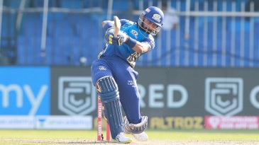 Krunal Pandya slammed two sixes and two fours in his four-ball innings