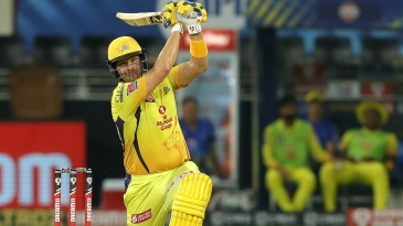 Shane Watson flays one over bowler's head