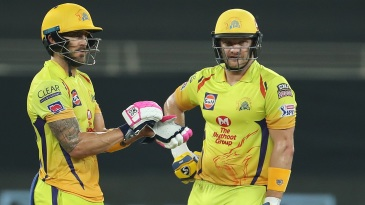 Faf du Plessis and Shane Watson put up a century partnership