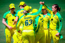 Jess Jonassen picked up three wickets in an over at the end of New Zealand's innings, Australia v New Zealand, 2nd women's ODI, Brisbane, October 5, 2020
