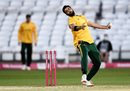 Imad Wasim bowls for Nottinghamshire, Nottinghamshire v Leicestershire, Vitality Blast quarter-final, Trent Bridge, October 1, 2020