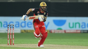 Virat Kohli takes off for a single