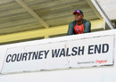 Courtney Walsh watches on during his time with Bangladesh, West Indies v Bangladesh, 2nd Test, Jamaica, July 11, 2018