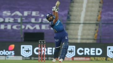 Rohit Sharma lofts one straight