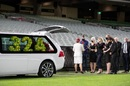 A private service was held at the MCG in memory of Dean Jones, Melbourne, October 4, 2020