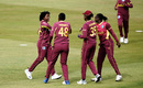 Sheneta Grimmond (extreme left) celebrates a wicket with her team-mates, England v West Indies, 3rd women's T20I, Derby, September 26, 2020