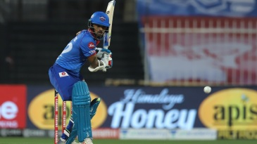 Shikhar Dhawan looks to drive one
