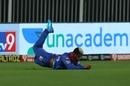 Shimron Hetmyer takes a low catch, Rajasthan Royals vs Delhi Capitals, IPL 2020, Sharjah, October 9, 2020