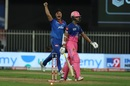 Yashasvi Jaiswal fell to Marcus Stoinis in trying to force the pace, Rajasthan Royals vs Delhi Capitals, IPL 2020, Sharjah, October 9, 2020