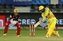 N Jagadeesan steadied the innings after the loss of the openers, Royal Challengers Bangalore vs Chennai Super Kings, IPL 2020, Dubai, October 10, 2020