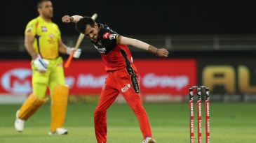 Yuzvendra Chahal is chuffed after sending back MS Dhoni