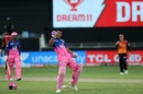 Riyan Parag does a celebratory jig after taking the Royals home with a six, Sunrisers Hyderabad vs Rajasthan Royals, IPL 2020, Dubai, October 11, 2020