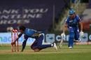 Rahul Chahar runs Marcus Stoinis out, Mumbai Indians vs Delhi Capitals, IPL 2020, Abu Dhabi, October 11, 2020