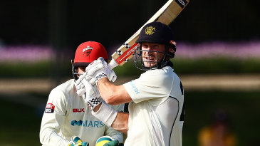 Shaun Marsh plundered a century in the final session