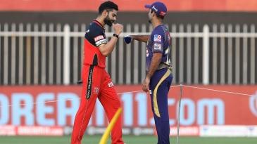 Virat Kohli and Dinesh Karthik meet at the toss