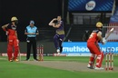 Aaron Finch faces Pat Cummins, Royal Challengers Bangalore vs Kolkata Knight Riders, IPL 2020, Sharjah, October 12, 2020