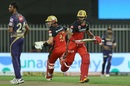 Aaron Finch and Devdutt Padikkal pinch a quick single, Royal Challengers Bangalore vs Kolkata Knight Riders, IPL 2020, Sharjah, October 12, 2020