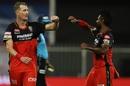 Chris Morris celebrates a wicket with Isuru Udana, Royal Challengers Bangalore vs Kolkata Knight Riders, IPL 2020, Sharjah, October 12, 2020