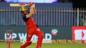 AB de Villiers smacks one through the leg side