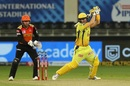 Shane Watson flogs away a short ball, Sunrisers Hyderabad vs Chennai Super Kings, IPL 2020, Dubai, October 13, 2020