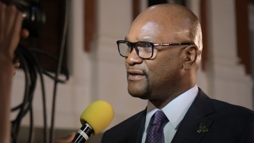 Nathi Mthethwa. South Africa's minister of Sports, Arts and Culture, speaks at an event