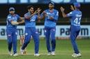 Tushar Deshpande celebrates a wicket, Delhi Capitals vs Rajasthan Royas, IPL 2020, Dubai, October 14, 2020