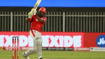 Chris Gayle swats one down the ground