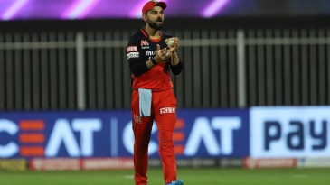 Virat Kohli gees up his players while fielding