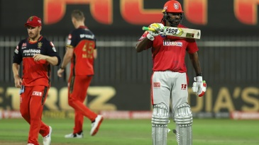 Chris Gayle celebrates his fifty